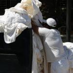 dużo białego prania